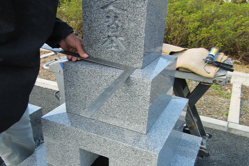 骨箱・台座石・墓石の設置