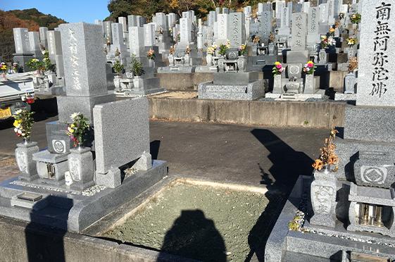 お墓の分解撤去