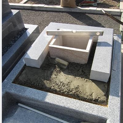 骨箱・台座石の設置